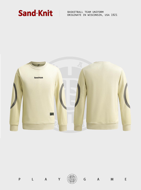 动力之窗运动装备森耐特个性时尚潮流男装圆领卫衣套头运动外套户外休闲跑步运动长袖上衣