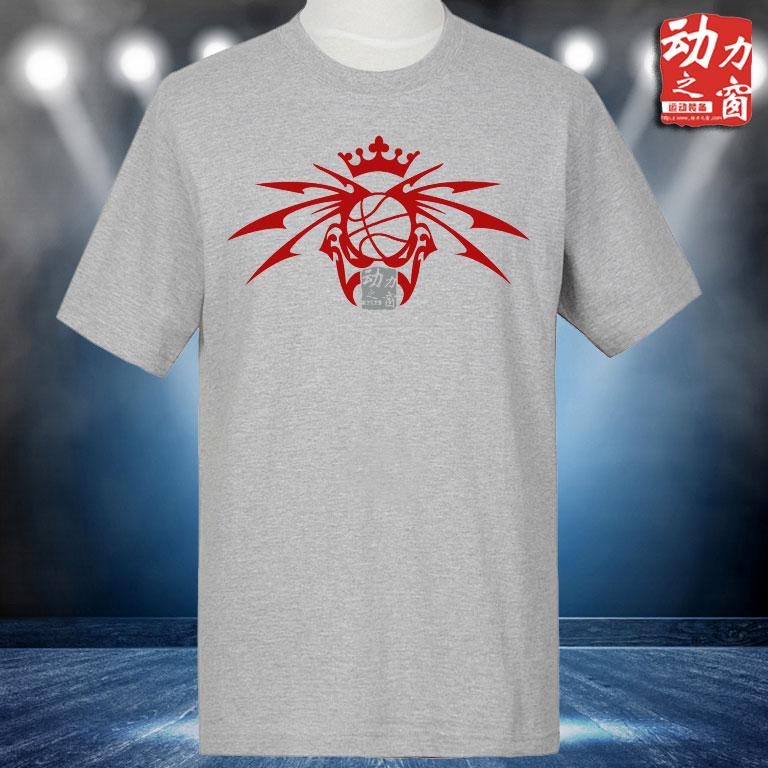 特价包邮纯棉休闲跑步男短袖运动T恤宽松加大灰色圆领半袖篮球T恤