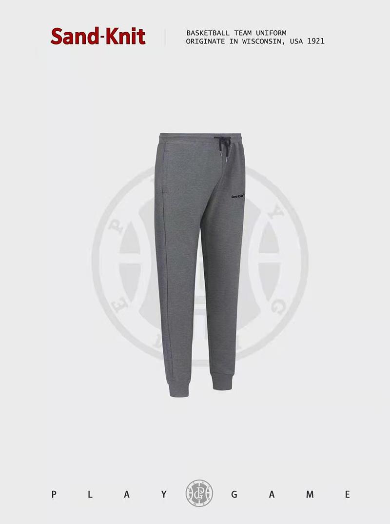 动力之窗春季新款森耐特弹性松紧灰色透气运动裤男士户外休闲松紧长裤修身卫裤
