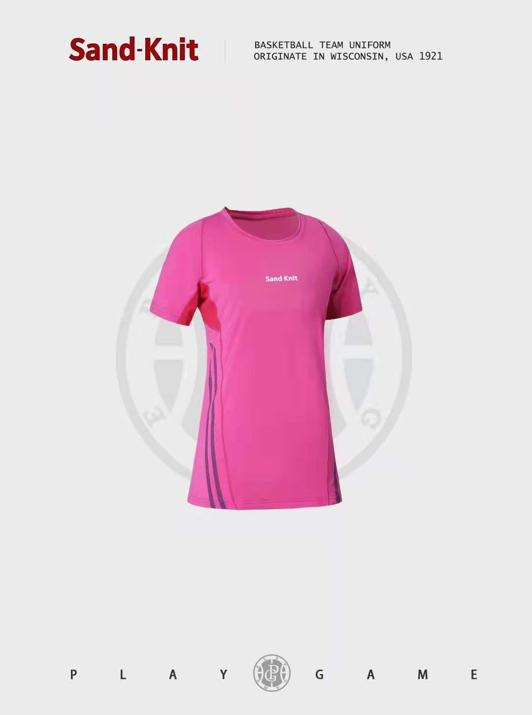 动力之窗体育森耐特瑜伽服女夏季薄款短袖运动T恤专业显瘦跑步速干健身上衣