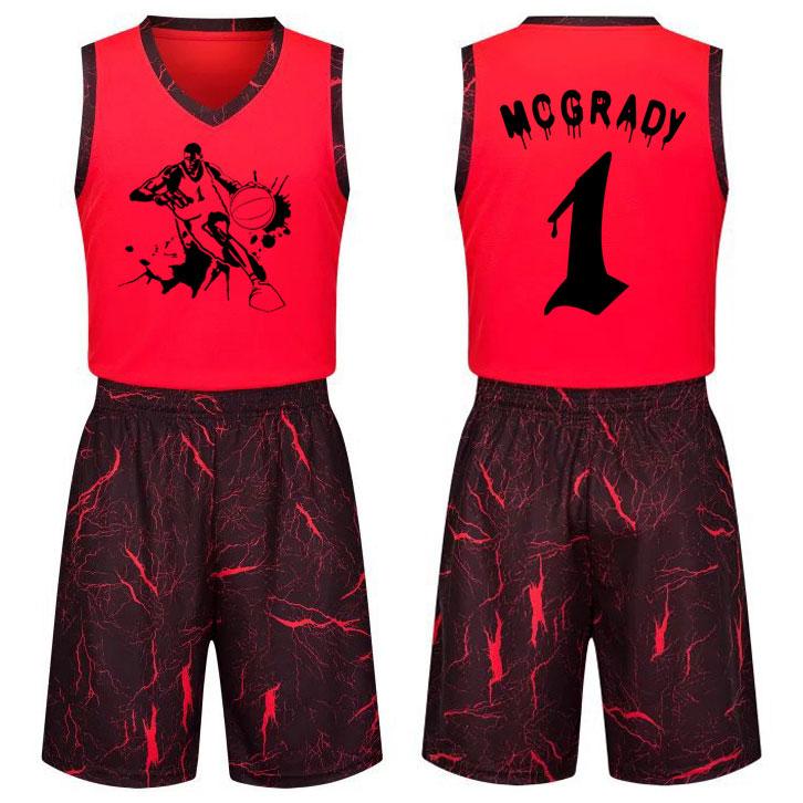 特价麦迪球衣青少年男女学生透气吸汗篮球服团队定制篮球队服套装