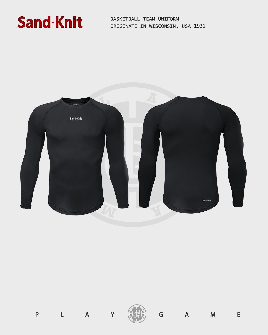 动力之窗运动装备森耐特男健身跑步长袖运动紧身衣篮球加厚打底衫