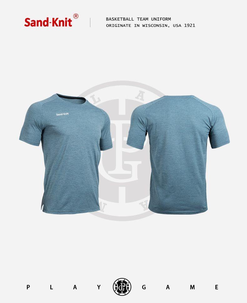动力之窗运动装备森耐特休闲跑步运动T恤青少年男子圆领短袖透气速干篮球T恤修身弹力上衣