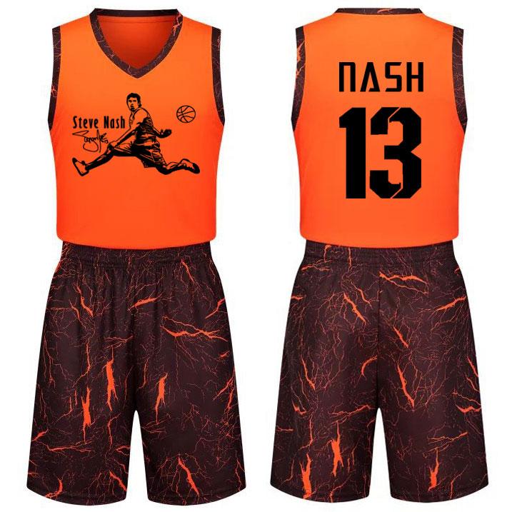 特价纳什球衣团队定制比赛训练青少年男女学生篮球服套装印字印号