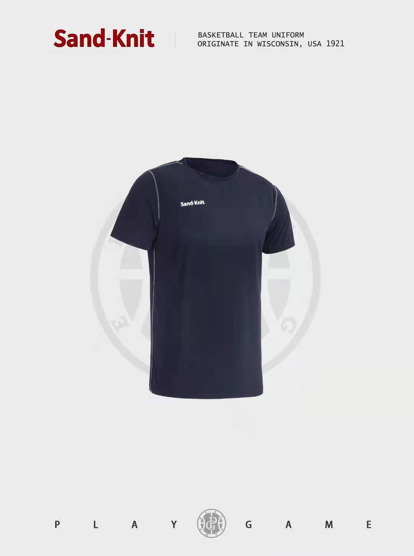 动力之窗体育夏季新款森耐特速干跑步T恤弹力休闲运动短袖男士健身圆领半袖上衣
