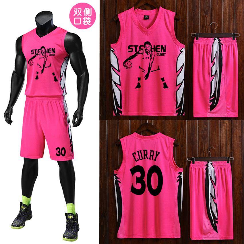 2018新款促销篮球服勇士库里DIY球衣定制篮球队服青少年篮球套装
