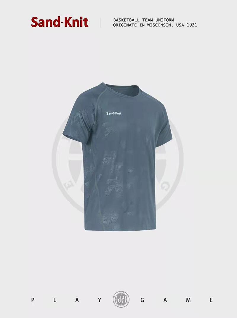 动力之窗体育新款森纳特透气速干跑步运动短袖T恤弹力半袖衫定制队服球衣DIY广告印字