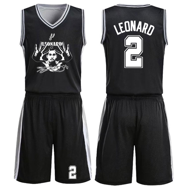 两面穿马刺队球衣队服邓肯吉诺比利帕克莱昂纳德青年男篮球服套装