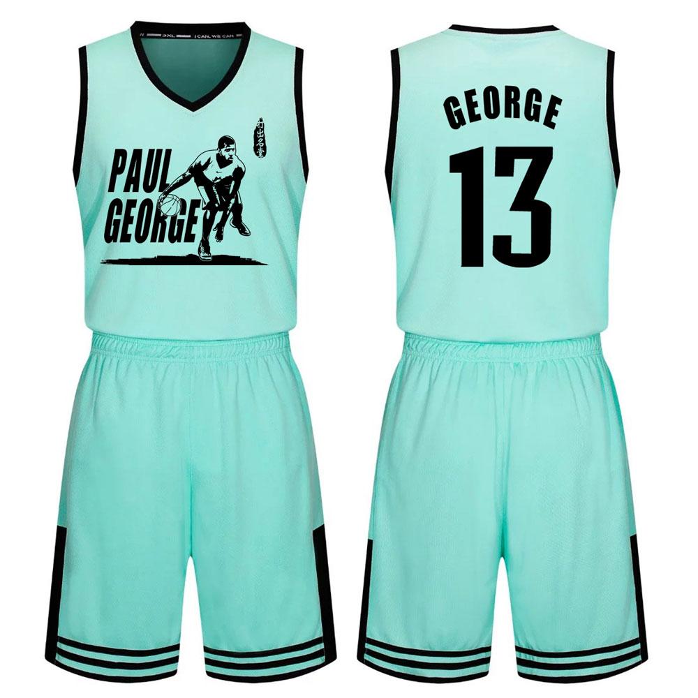 特价包邮保罗乔治球衣篮球运动套装订制少年男女儿童比赛训练队服
