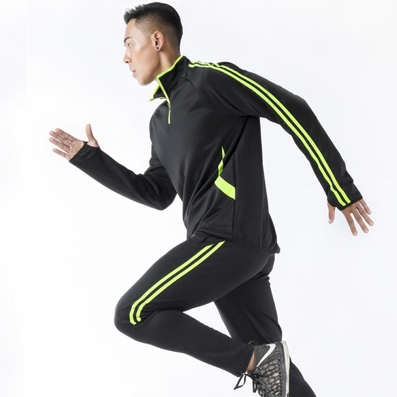动力之窗体育春季男士健身跑步长袖运动套装运动服运动装定制队服班服DIY个性订制印字