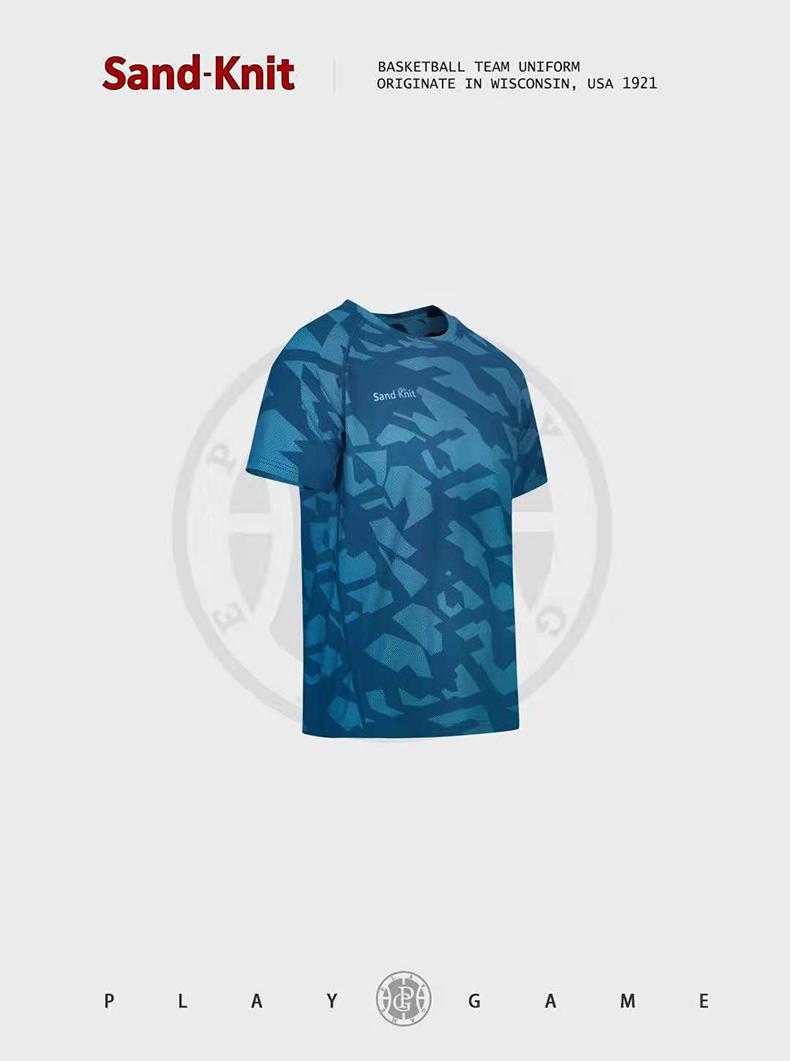 动力之窗新款森耐特圆领灰色运动短袖男迷彩透气速干弹力半袖t恤
