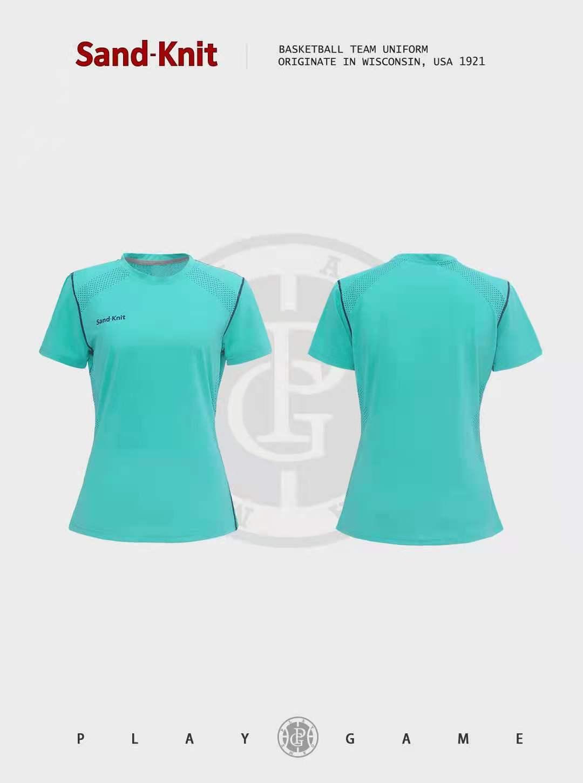 动力之窗体育夏季森耐特透气速干跑步运动短袖T恤女士圆领上衣半袖衫