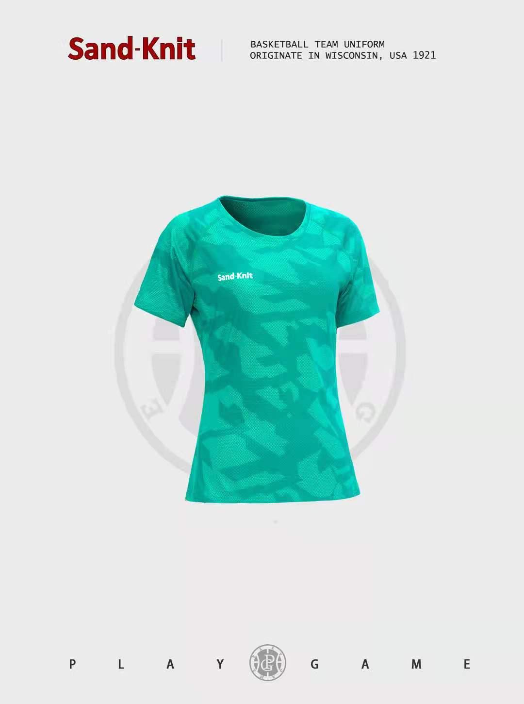动力之窗体育夏季新款森耐特女士迷彩运动短袖透气速干休闲跑步半袖T恤上衣