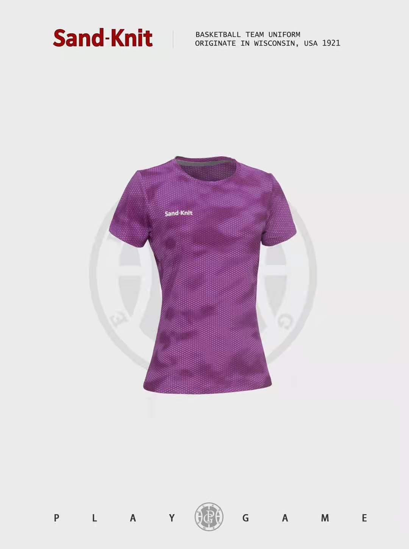 动力之窗体育夏季森耐特速干上衣女迷彩运动短袖宽松瑜伽t恤训练跑步健身衣服半袖衫